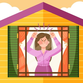 cabin-fever-with-woman-house_23-2148571662