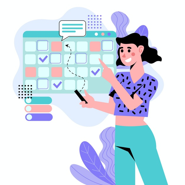 illustrated-woman-booking-appointment-calendar_23-2148563060